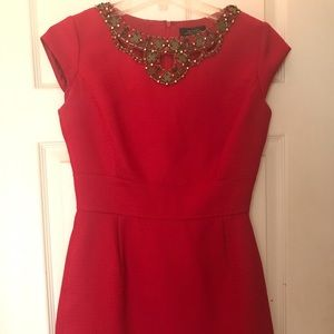 Red Tahari short dress. Size 6. Interview